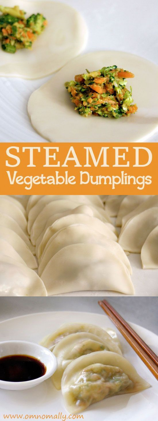 Steamed Vegetable Dumplings - recipe vegetarian dumplings chinese