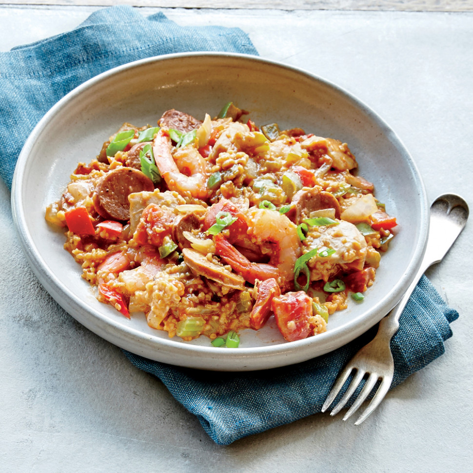 Steel-Cut Oats Jambalaya Recipe | MyRecipes - recipes jambalaya dinner