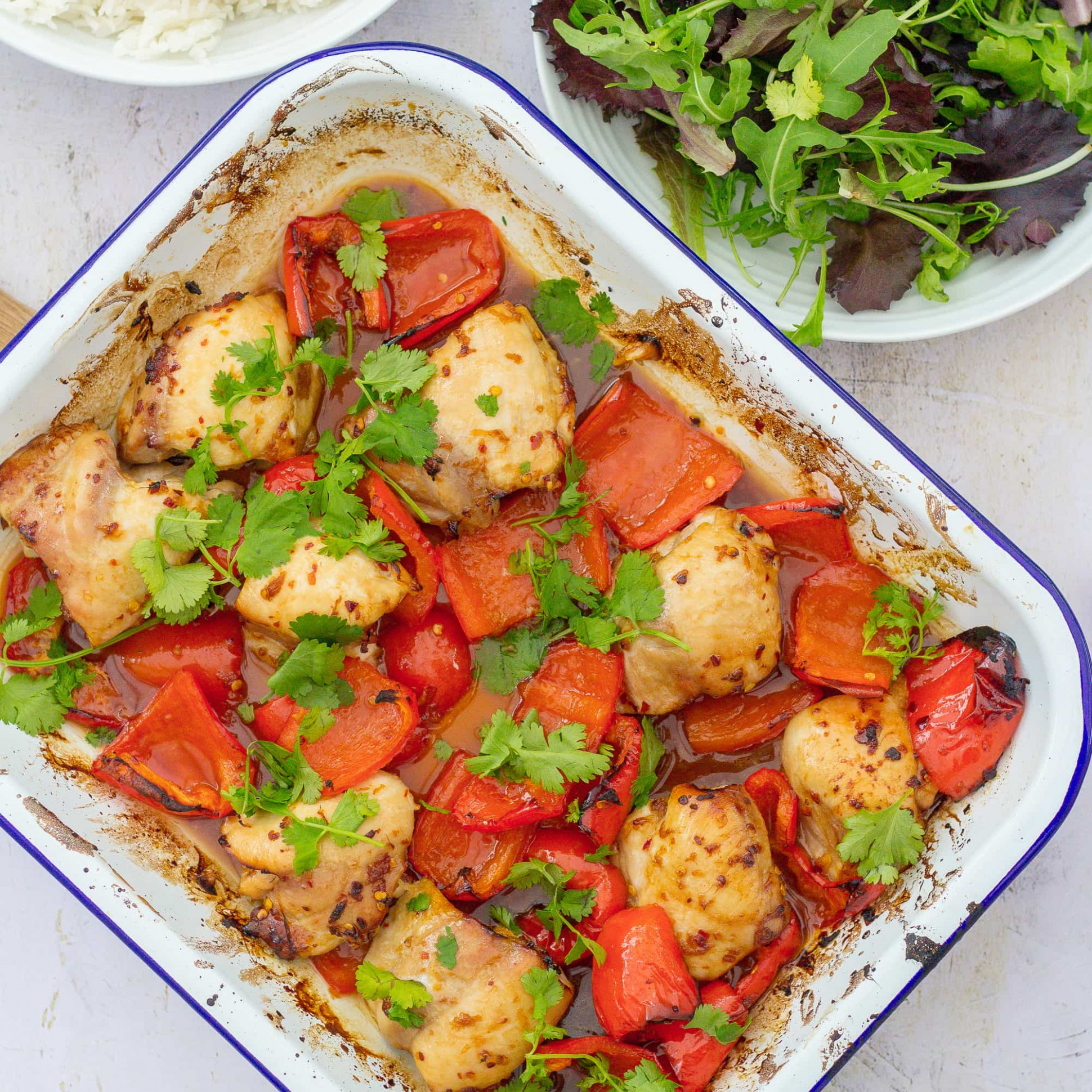 Sticky Chicken Traybake - Easy Peasy Foodie - chicken recipes mary berry