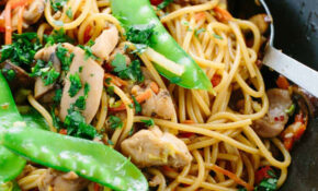 Stir Fried Garlic Noodles Recipe With Chicken – Jessica Gavin – Wok Recipes Chicken