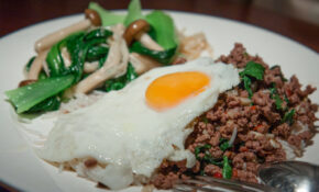 Stir Fried Minced Beef (Neua Pat Bai Grapao) With Chillies And Holy Basil With Bok Choy And Mushrooms – Recipes Eggs For Dinner