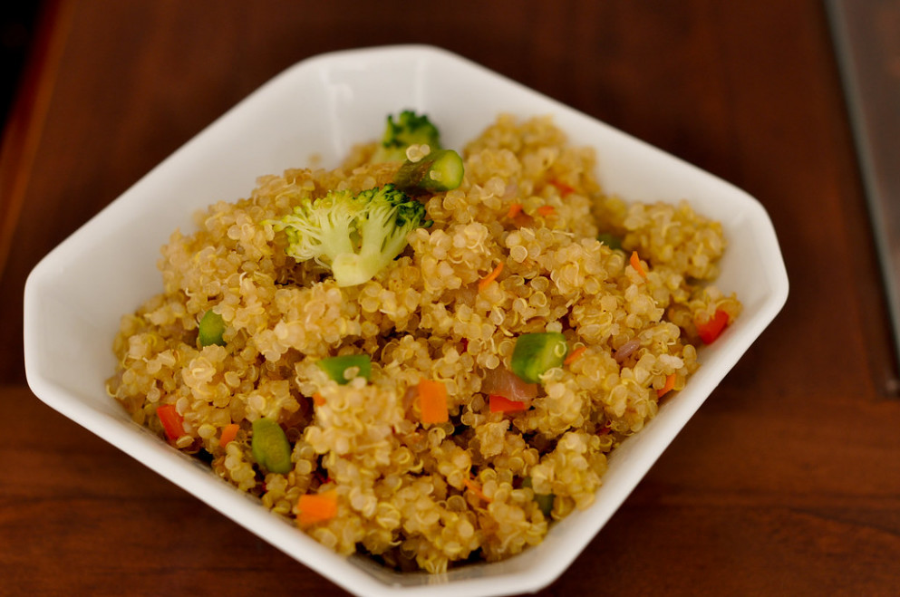 Stir-Fried Quinoa with Veggies - rice recipes vegetarian