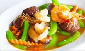 Stir Mixed Vegetable In Oyster Sauce Stock Photo – Image Of ..