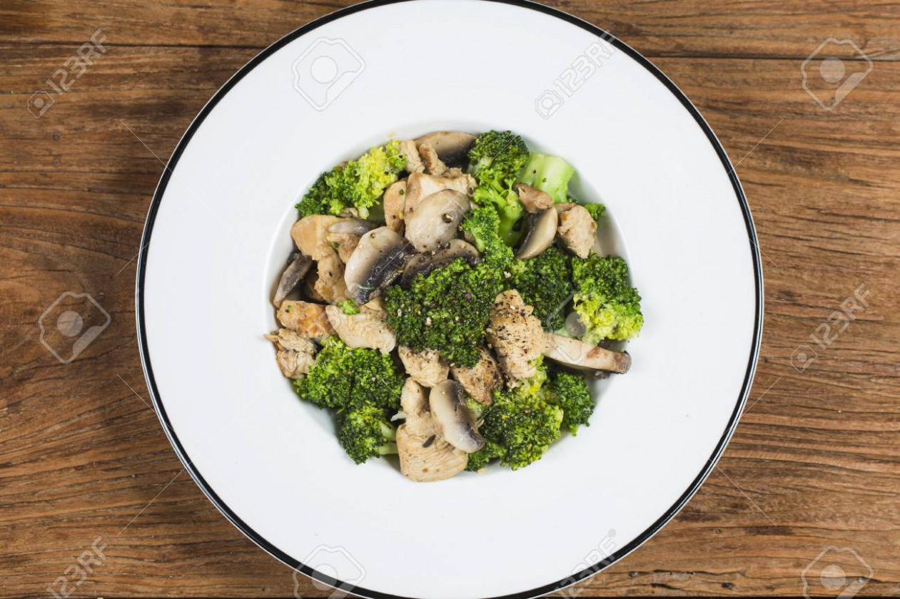 Stock Photo - healthy chicken and mushroom recipes
