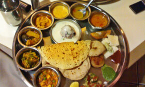 Stock Pictures: Indian Thali – Typical Indian Vegetarian Meal – Indian Recipes Dinner Vegetarian