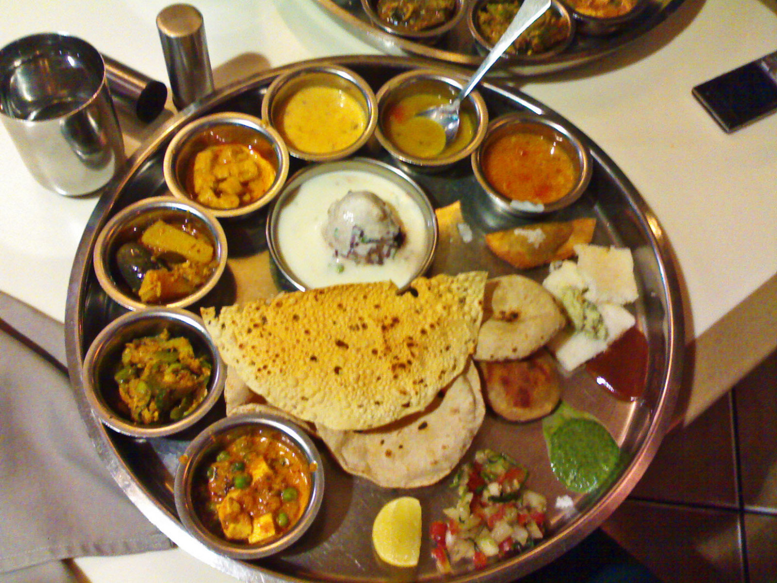Stock Pictures: Indian Thali - Typical Indian Vegetarian Meal - Indian Recipes Dinner Vegetarian