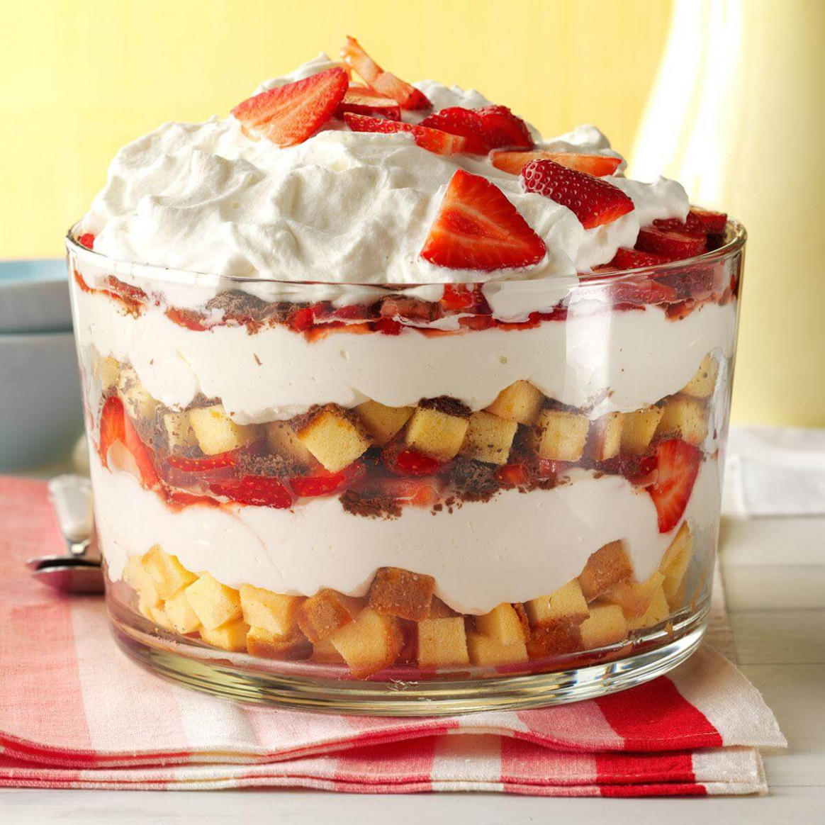Strawberry Cheesecake Trifle Recipe | Taste Of Home - Recipes With Kraft Dinner