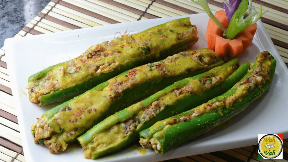 stuffed banana peppers - vahchef recipes vegetarian