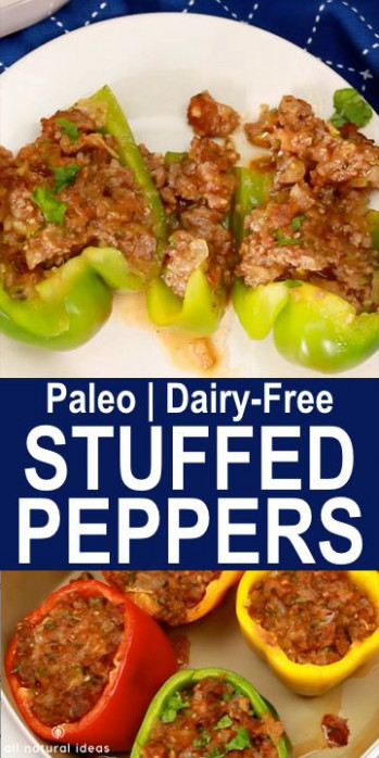 Stuffed Bell Peppers // whole 30 recipes // ground beef ..