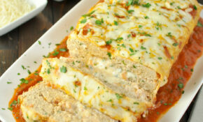 Stuffed Chicken Parmesan Keto Meatloaf | Peace Love And ..