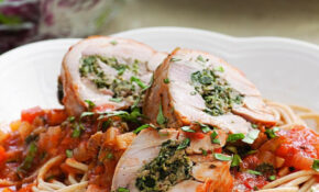 Stuffed Chicken Thighs Braised In Tomato Sauce Recipe ..