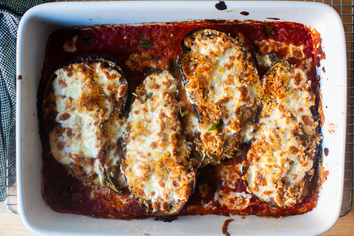 Stuffed Eggplant Parmesan - Eggplant Recipes Vegetarian