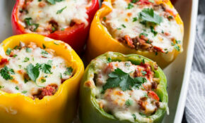 Stuffed Peppers – Red And Yellow Bell Pepper Recipes Vegetarian