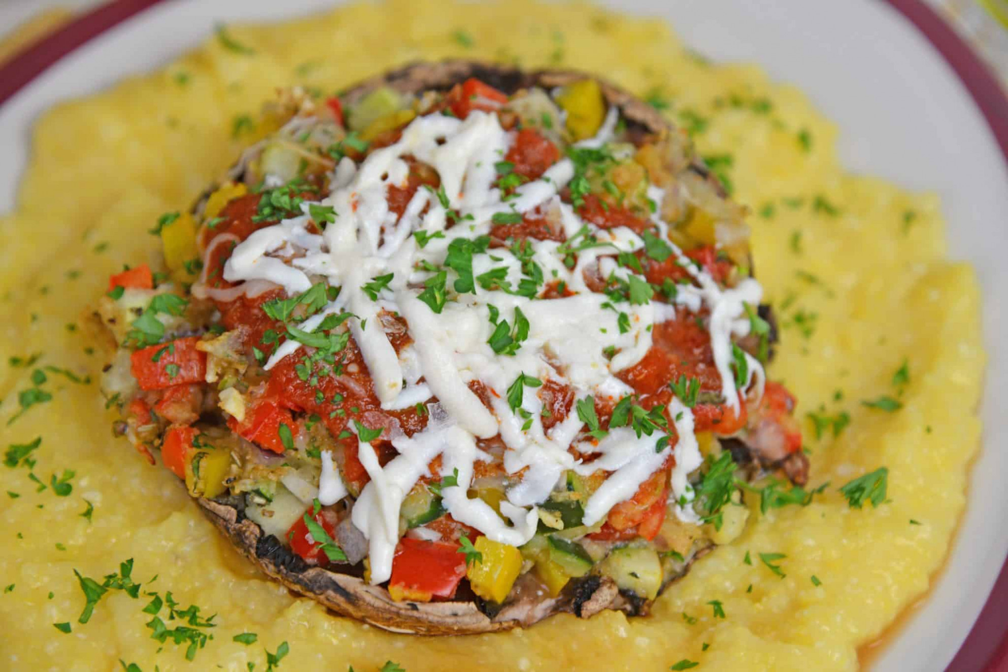 Stuffed Portabella Mushrooms - recipes for dinner vegetarian indian