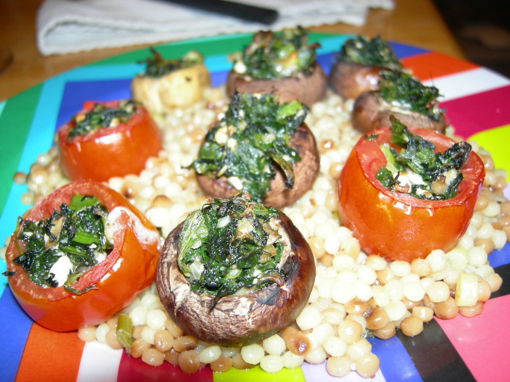 Stuffed tomatoes and mushrooms - recipes stuffed mushrooms vegetarian