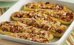 Stuffed Yellow Squash with Bacon | Recipe | Healthy ...