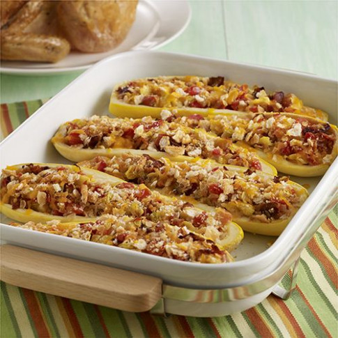 Stuffed Yellow Squash with Bacon | Recipe | Healthy ..