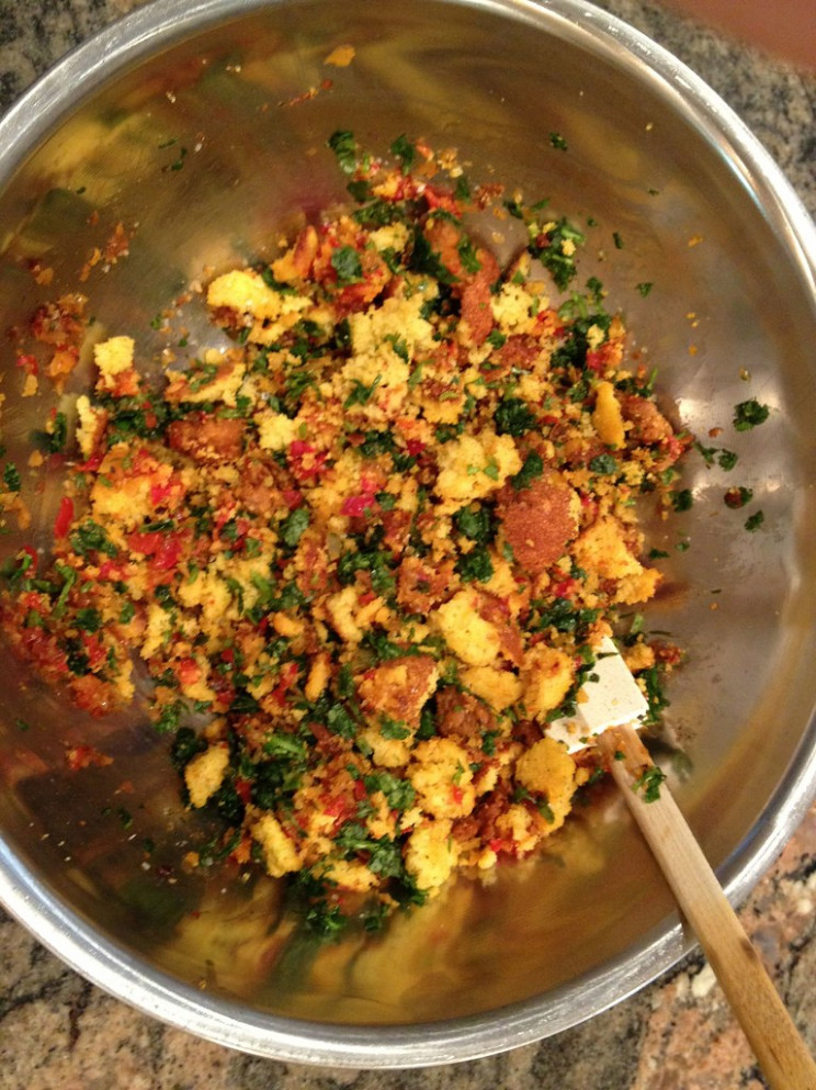 Stuffing for Flank Steak - recipes to make ahead for dinner party