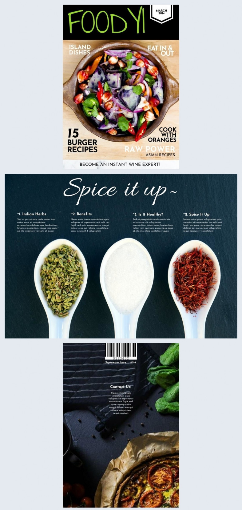 Stunning Cooking Magazine Cover Template & Design - Flipsnack - Healthy Recipes Magazine