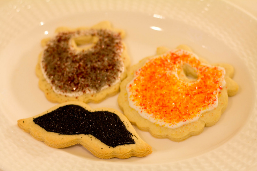 Sugar Cookies - Beards and Mustaches - recipes using angel food cake mix