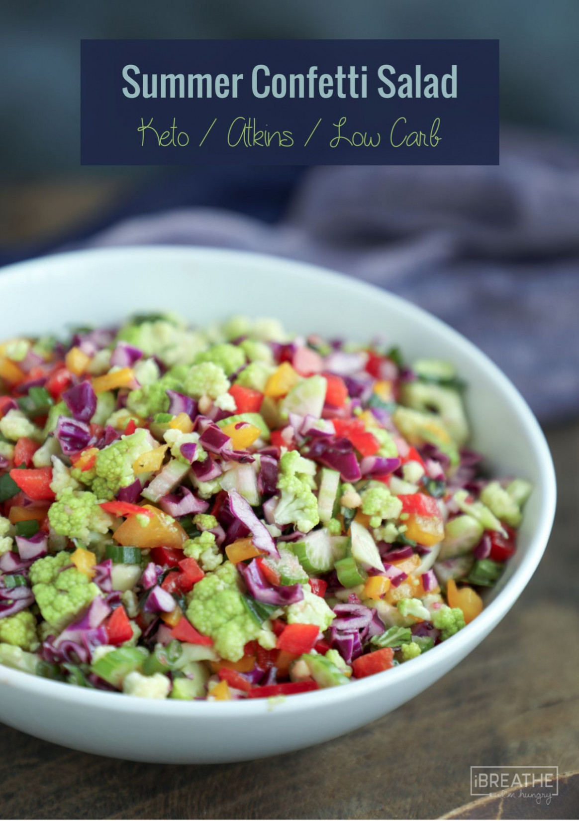 Summer Confetti Salad-Low Carb and Gluten Free - recipes of healthy salads