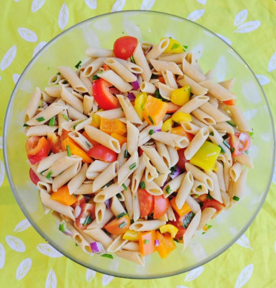 Summer Pasta Salad - healthy pasta recipes vegetarian