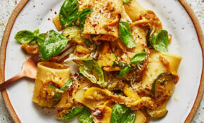 Summer Squash And Basil Pasta – Recipes Vegetarian Summer