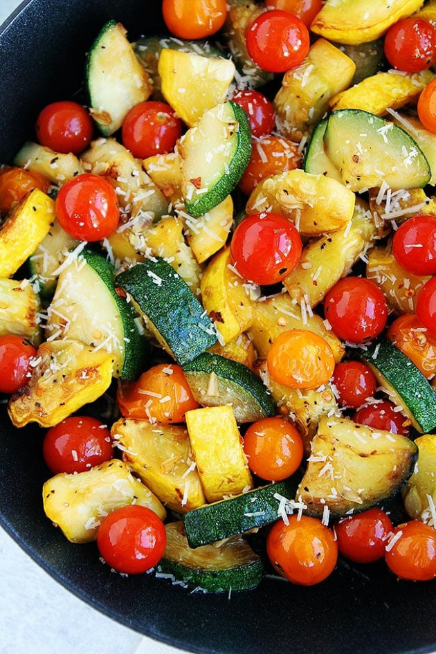 Summer Squash Sauté Recipe - dinner recipes with zucchini and squash
