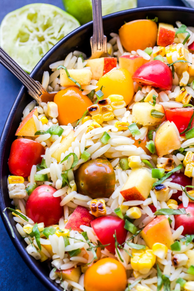 Summer Vegetable Orzo Salad - Recipe Runner - orzo recipes vegetarian