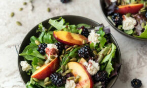 Summery Salad With Blackberry Vinaigrette + Almond Ricotta – Healthy And Vegetarian Recipes
