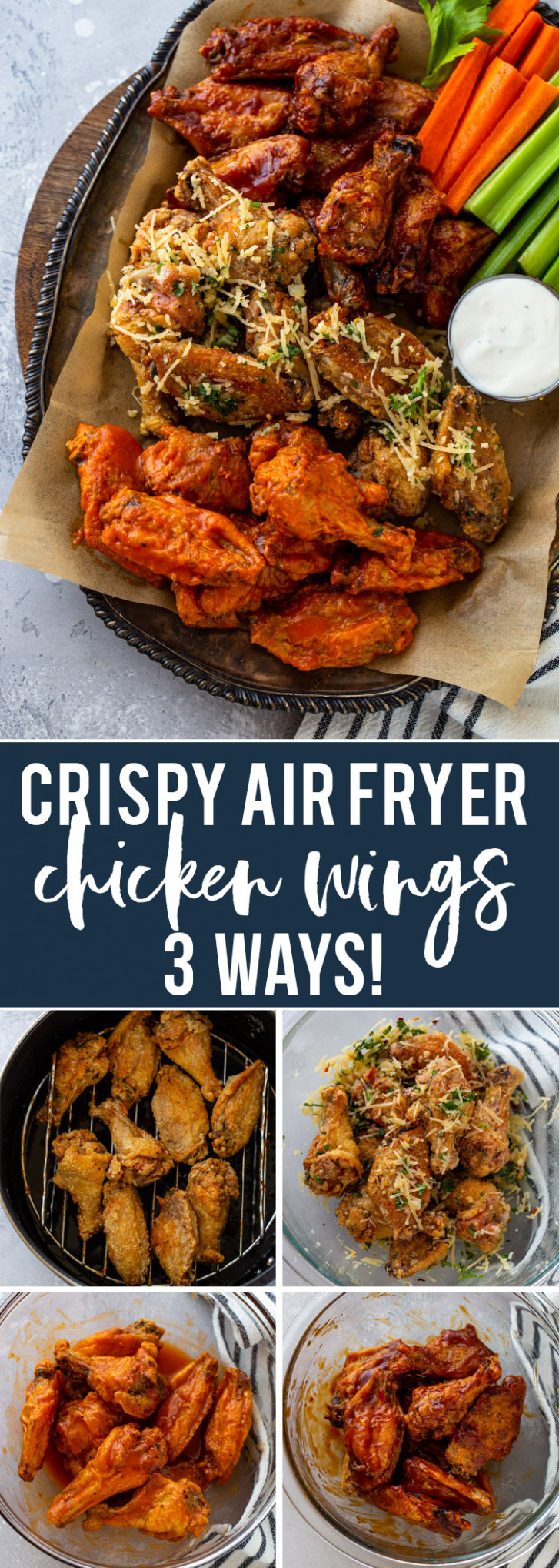 Super Crispy Air Fryer Chicken Wings (12 Ways!) - Recipes Air Fryer Chicken