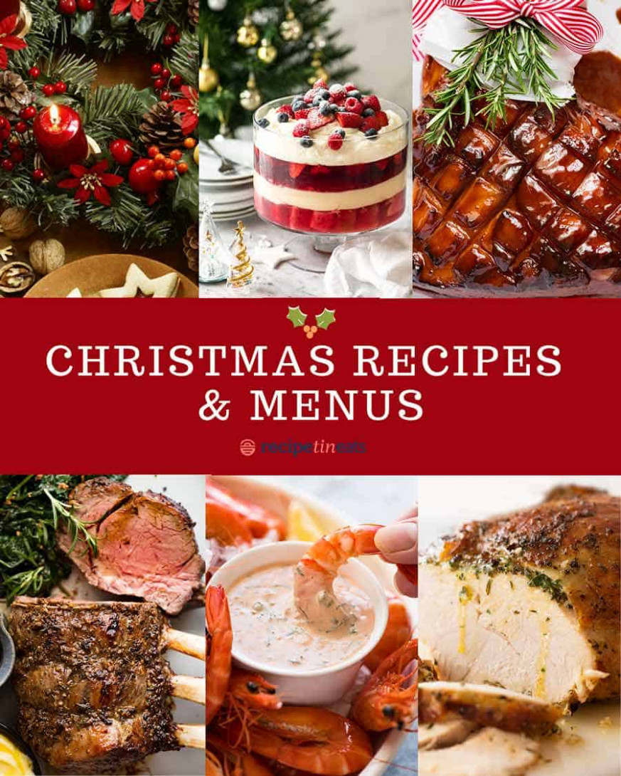 Super Easy Christmas Menu - christmas food recipes