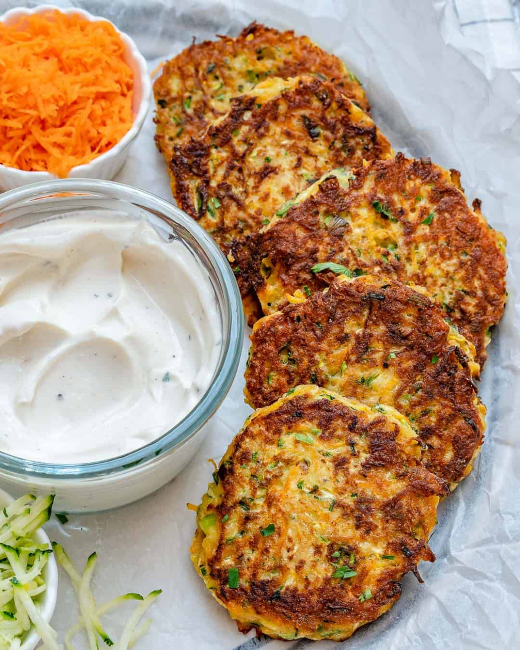 SUPER Easy Zucchini Fritters Recipe | Healthy Fitness Meals - dinner recipes healthy vegetarian
