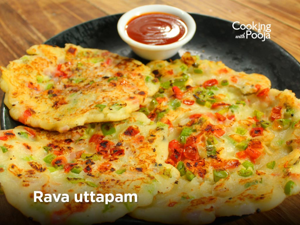 Super quick and easy: Rava Uttapam | cookingwithpooja - dinner recipes with rava