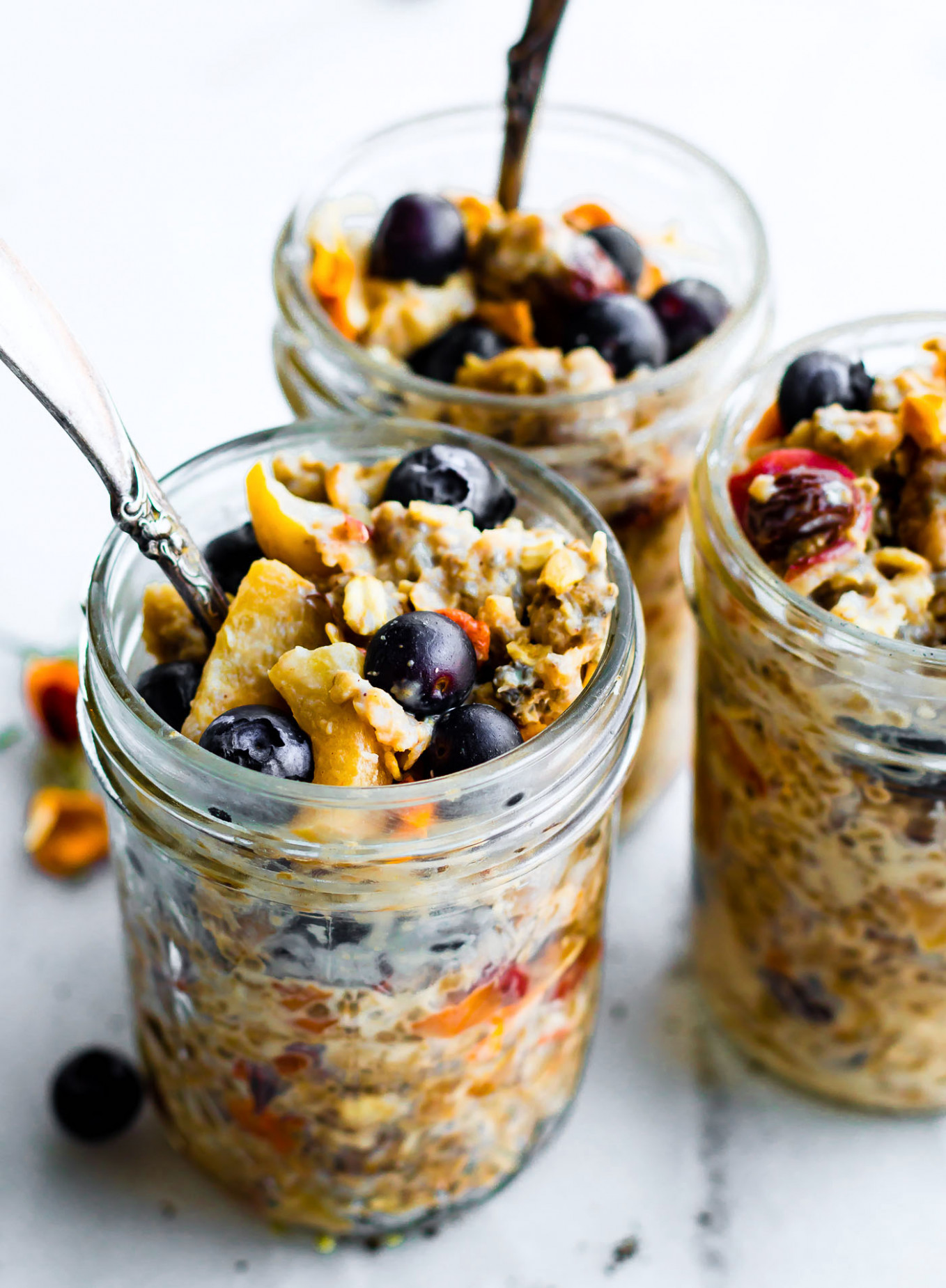 Superfood Instant Pot Oatmeal Jars (Stove top and Slow cooker options) - recipes of healthy breakfast
