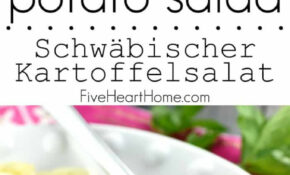 Swabian Kartoffelsalat – Recipe Vegetarian German Potato Salad