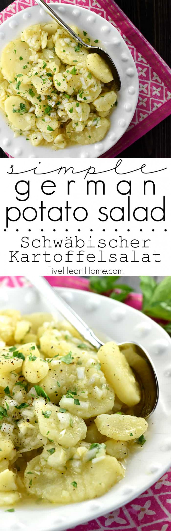 Swabian Kartoffelsalat - recipe vegetarian german potato salad