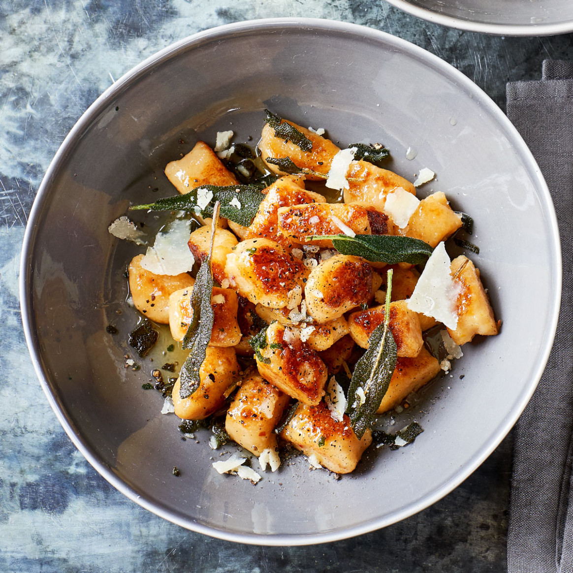 Swede gnocchi with crispy sage - recipes with gnocchi vegetarian
