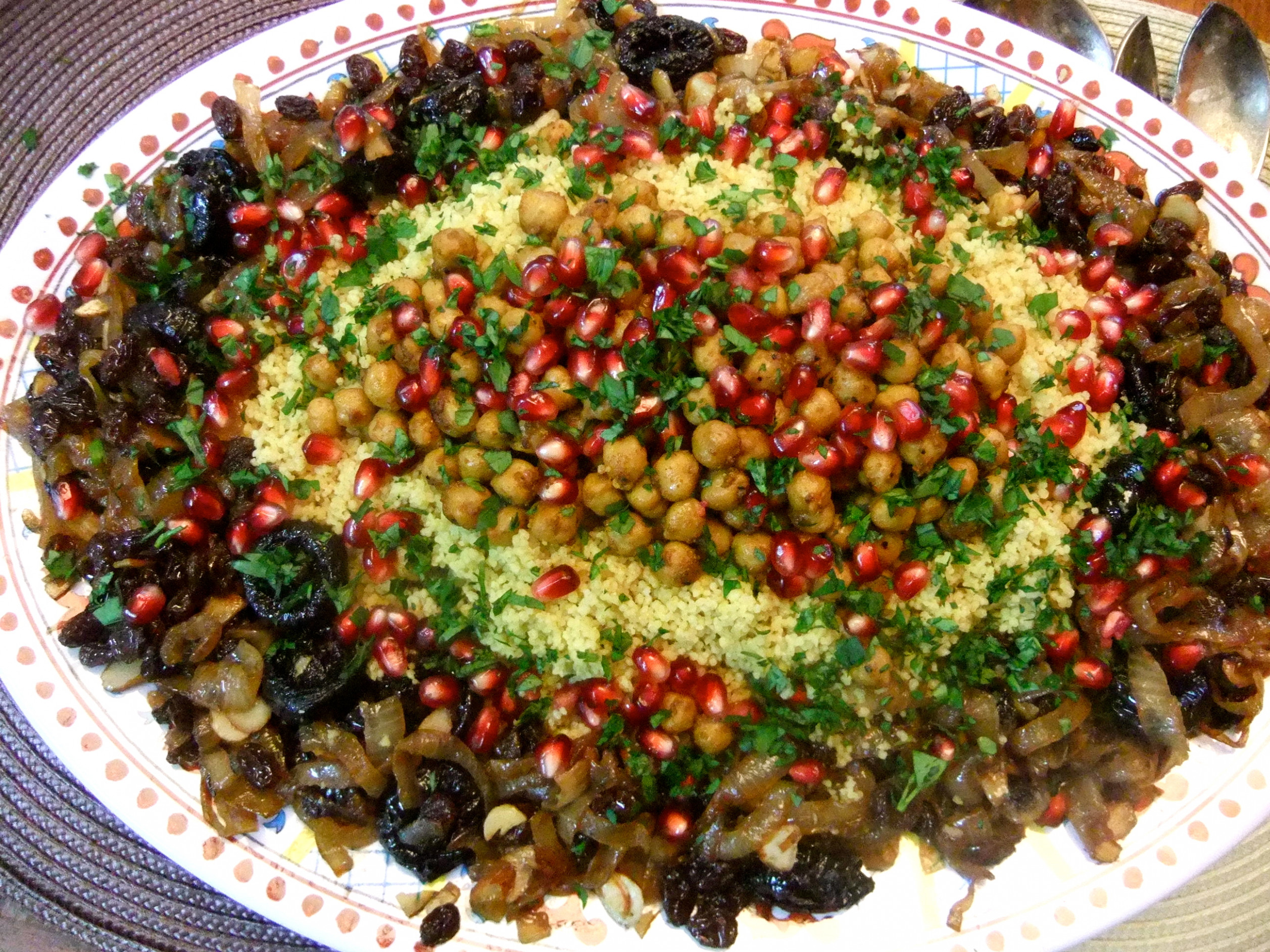 Sweet and Savory Moroccan Couscous - moroccan recipes vegetarian