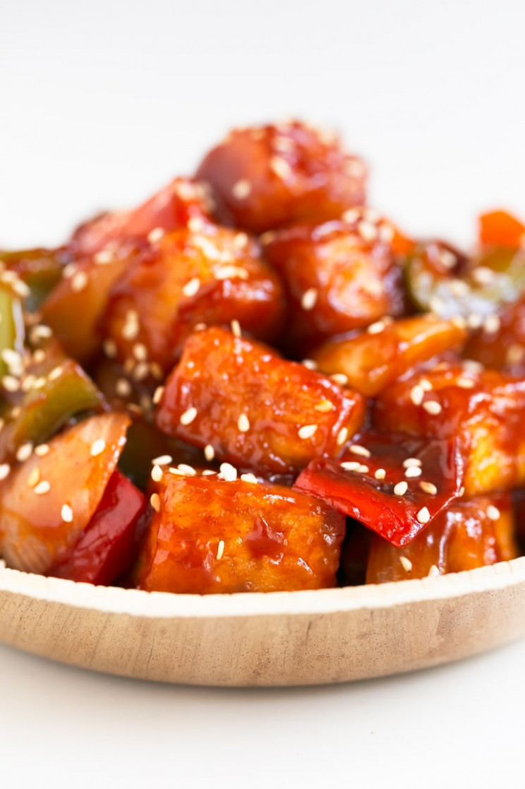 Sweet and Sour Tofu - Simple Vegan Blog - recipes with tofu healthy