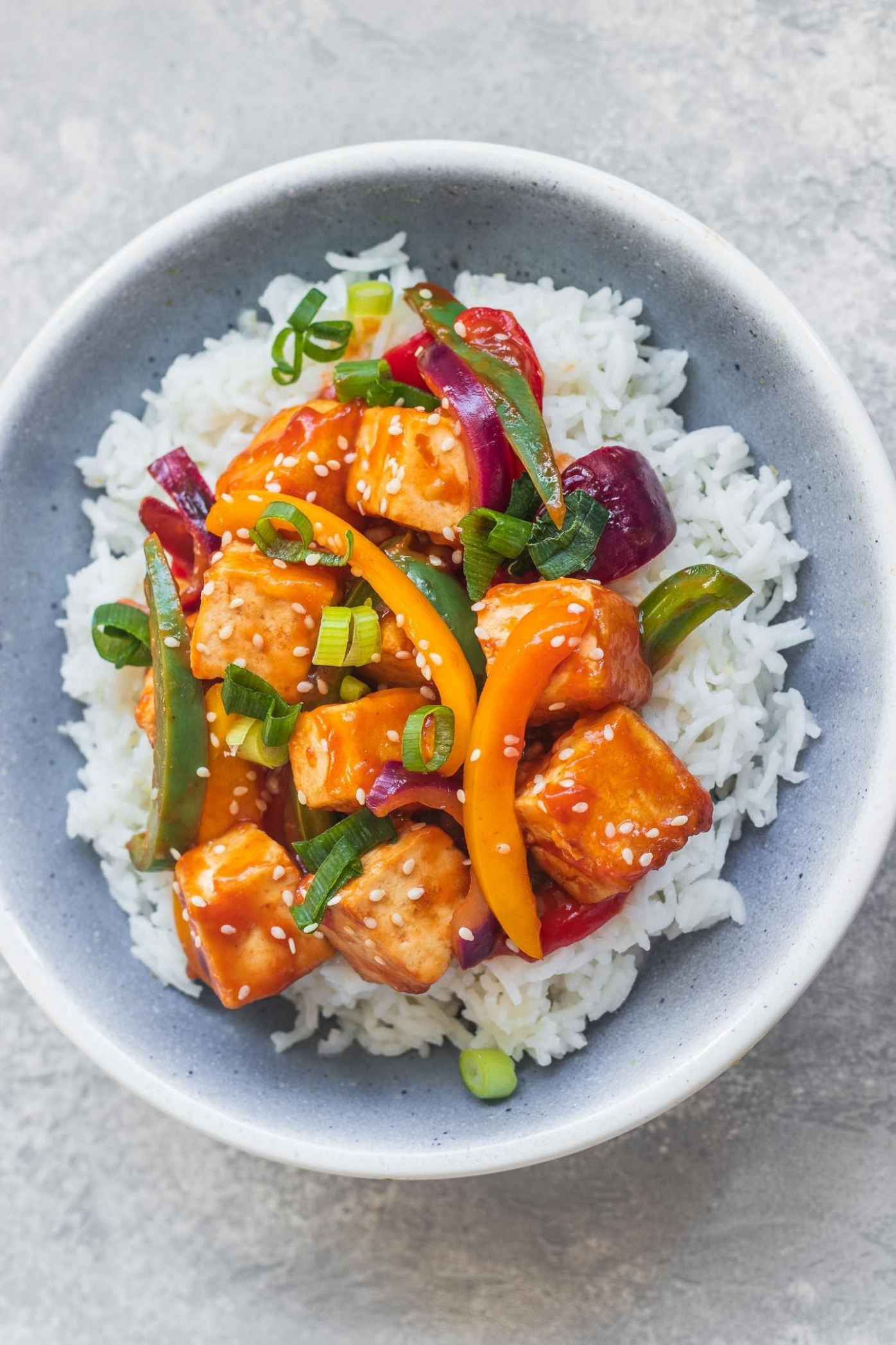 Sweet and Sour Tofu (Vegan, Gluten-free) - tofu recipes dinner