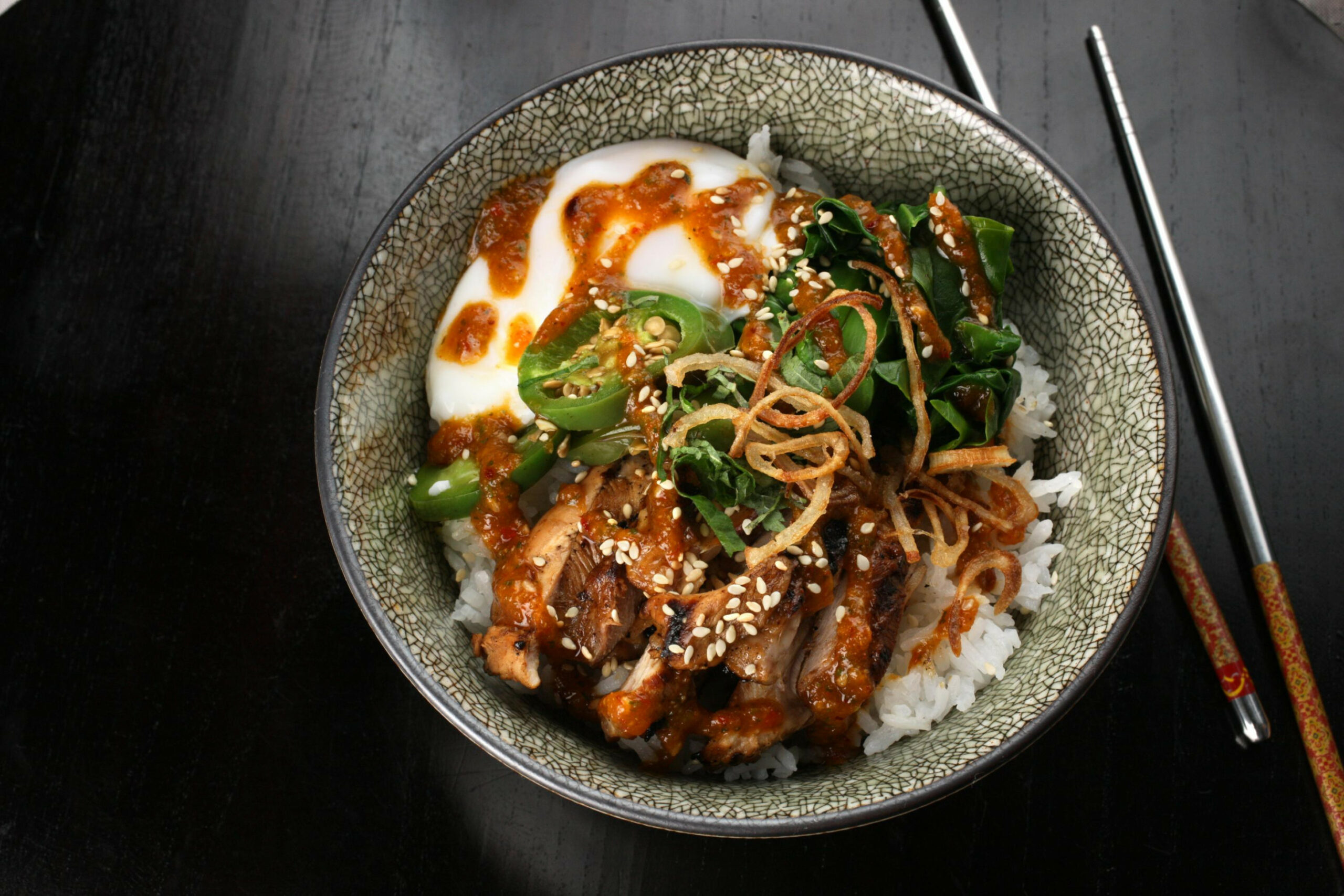 Sweet Chile–Chicken Rice Bowl - Rice Bowl Recipes Chicken