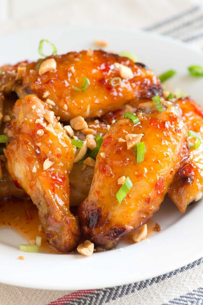 Sweet Chili Baked Chicken Wings | Recipe | **FOOD LOVE ..