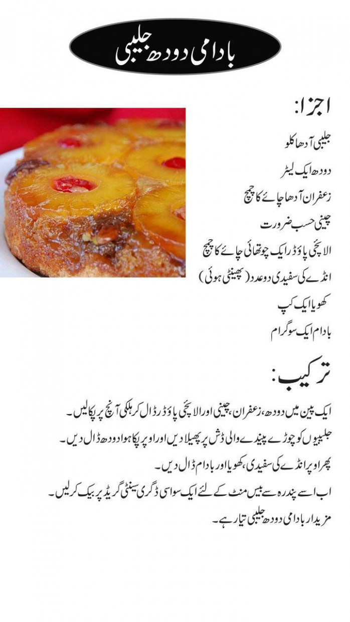 sweet dish recipes urdu for Android - APK Download - food recipes urdu