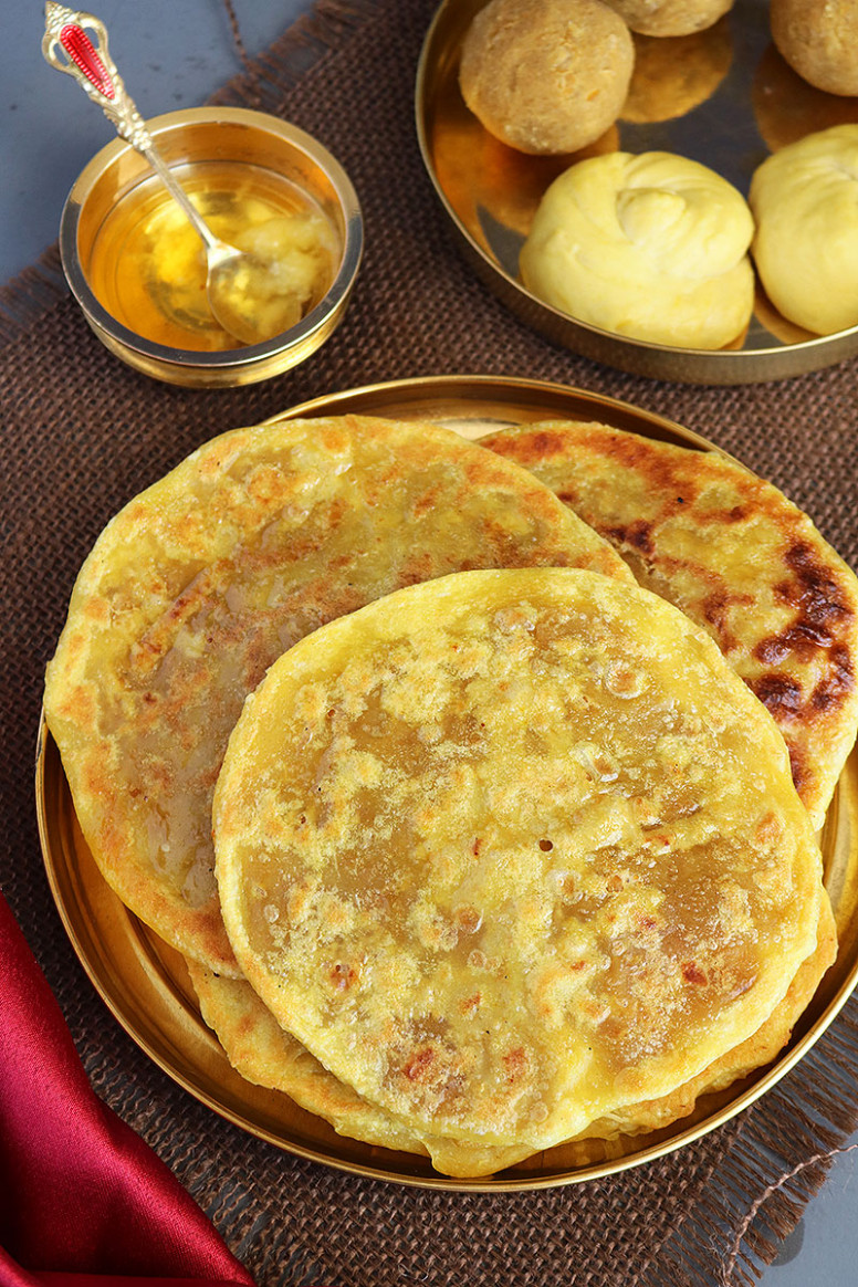 Sweet Poli - dinner recipes south indian in tamil