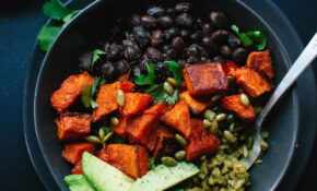 Sweet Potato And Green Rice Burrito Bowls – Cookie And Kate – Recipes Black Beans Healthy