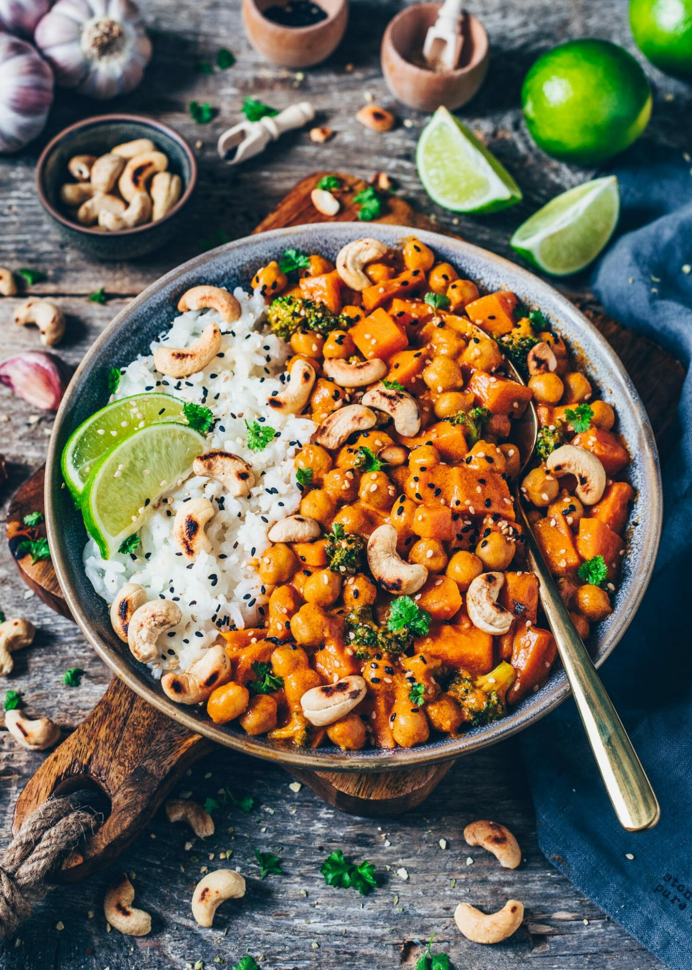 Sweet Potato, Chickpea and Coconut Curry - recipes with sweet potato vegetarian