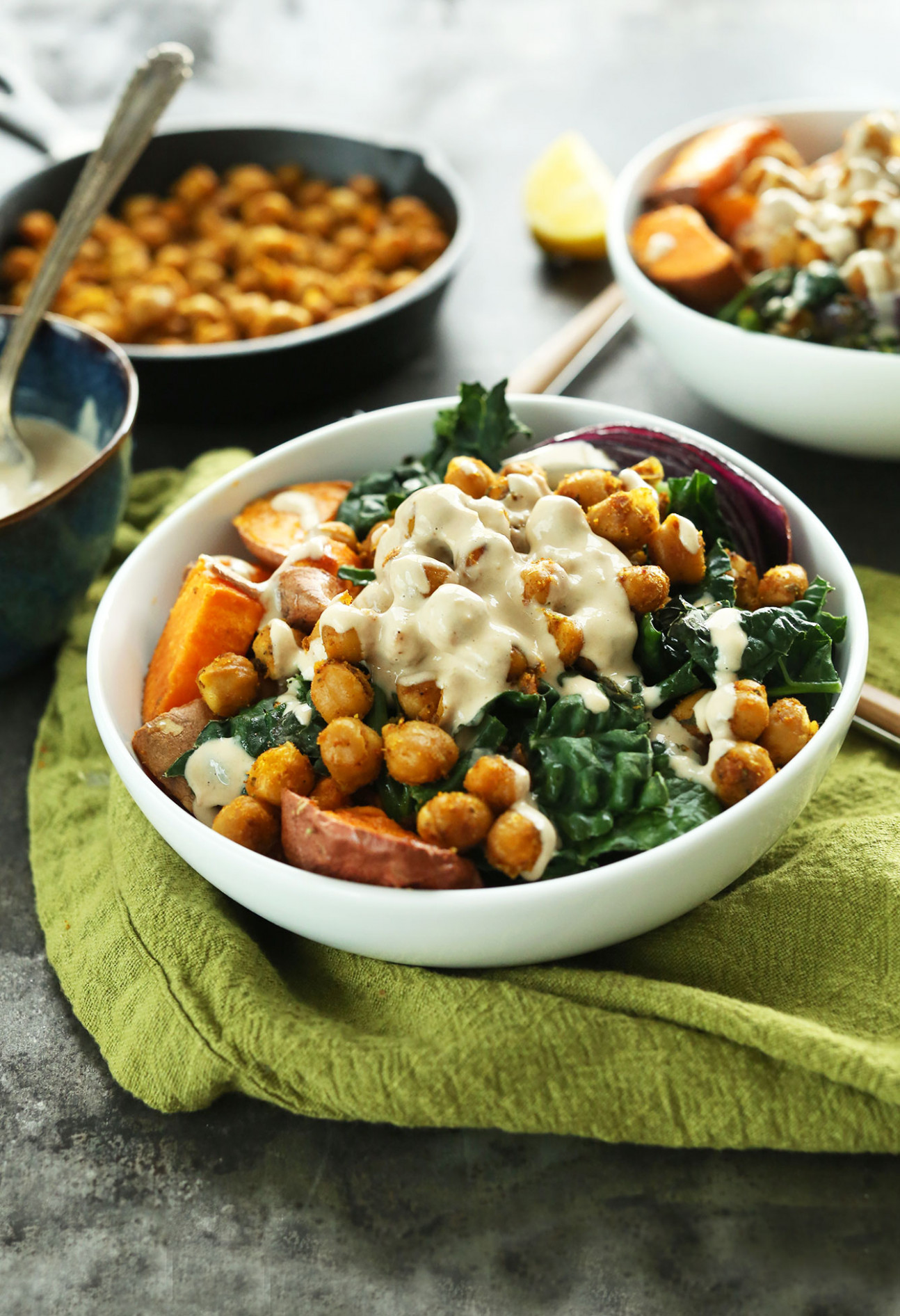 Sweet Potato Chickpea Buddha Bowl - recipes for dinner