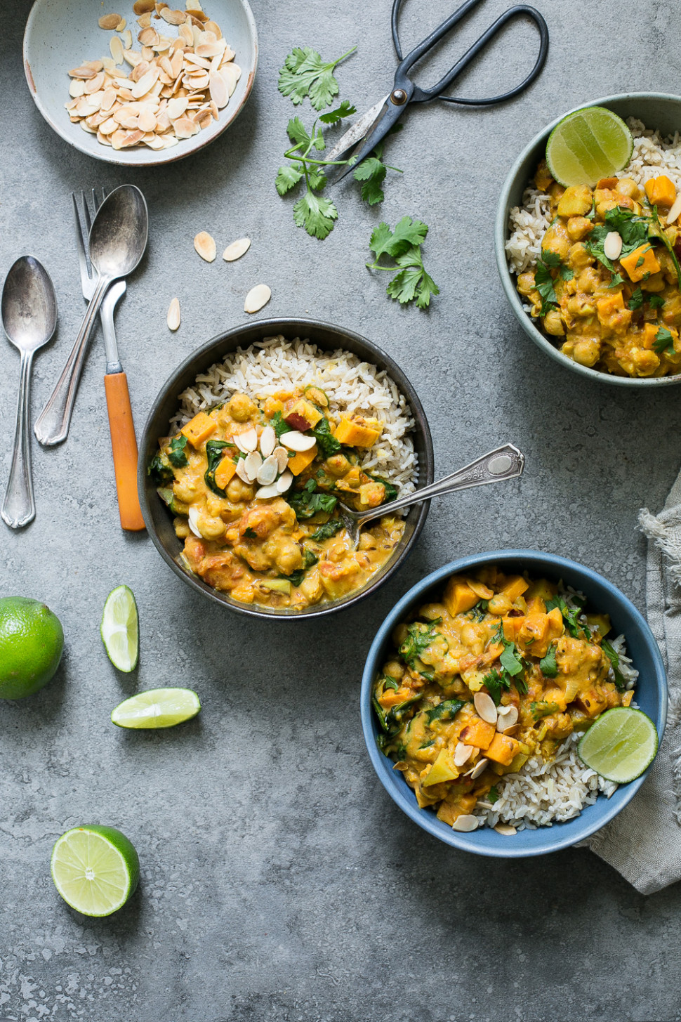 """Sweet Potato, Chickpea & Spinach Coconut Curry from """"Oh She Glows Every Day"""" - oh she glows recipes dinner"""