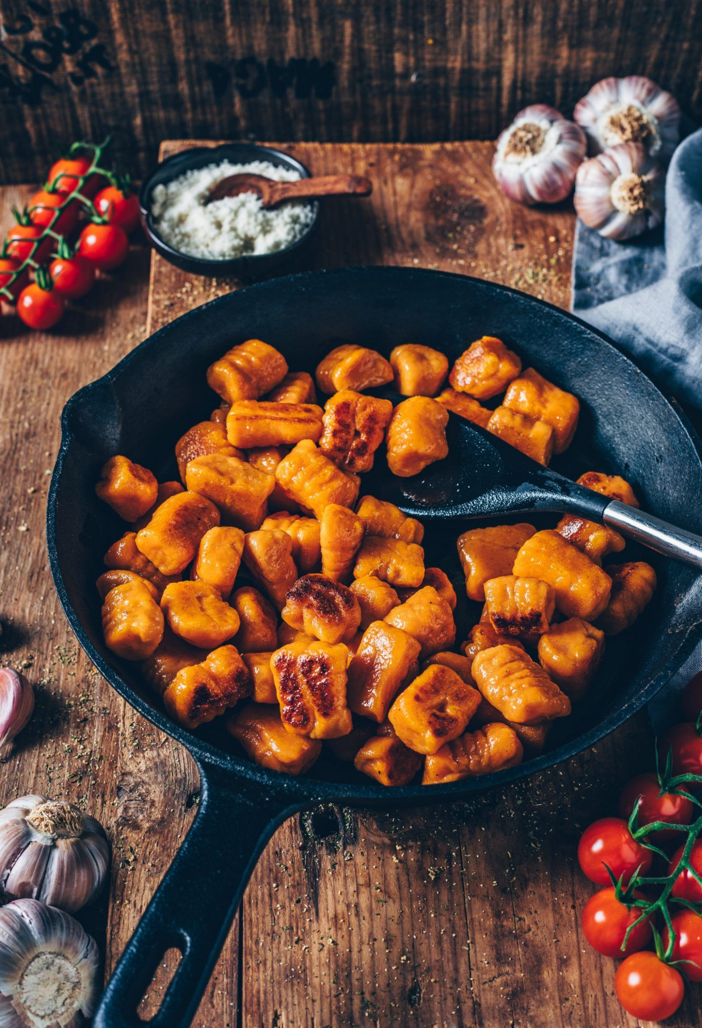 Sweet Potato Gnocchi (vegan, easy - recipes with gnocchi vegetarian